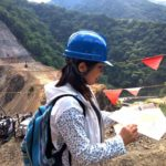 内ヶ谷ダム建設現場を見学
