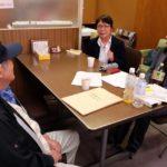 岐阜4区で急遽立候補する共産党の籠山恵美子さんの記者会見