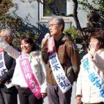 伊奈波神社参道前で新年のご挨拶
