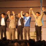 岐阜県の野党統一候補、梅村慎一さんの総決起集会へ!