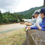 今日は衆議院の本村さん、高山市議の上嶋さんと大雨の影響を受けた高山市へ①