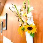 控え室にお花