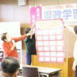 県民が主人公の会・西濃で県政学習会を開く。12月21日、午後。