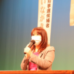 県民が主人公の会で岐阜県政について語る。13日夜,高山。
