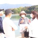 中津川市のため池を視察。4月24日、午後。